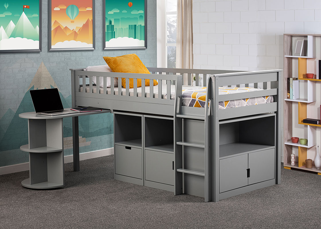 Midway High sleeper with fold out desk