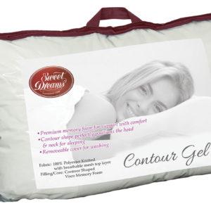 contoured gel pillow