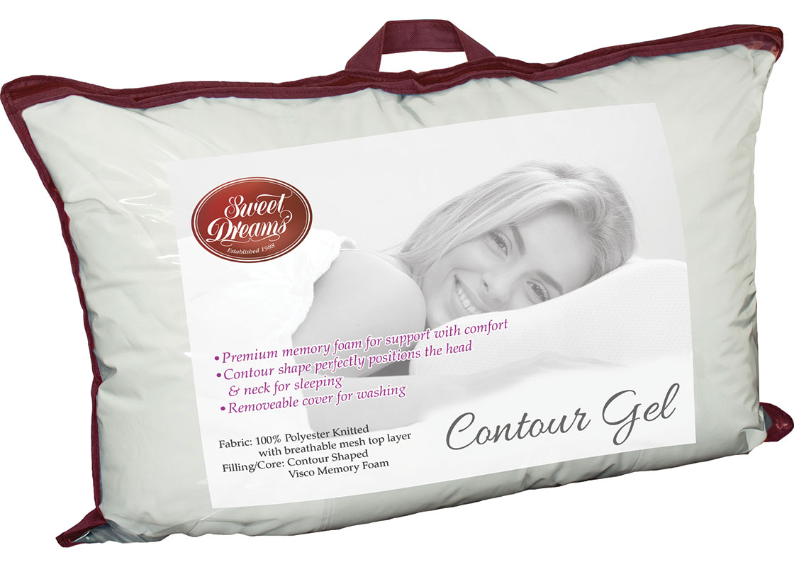 contoured gel pillow